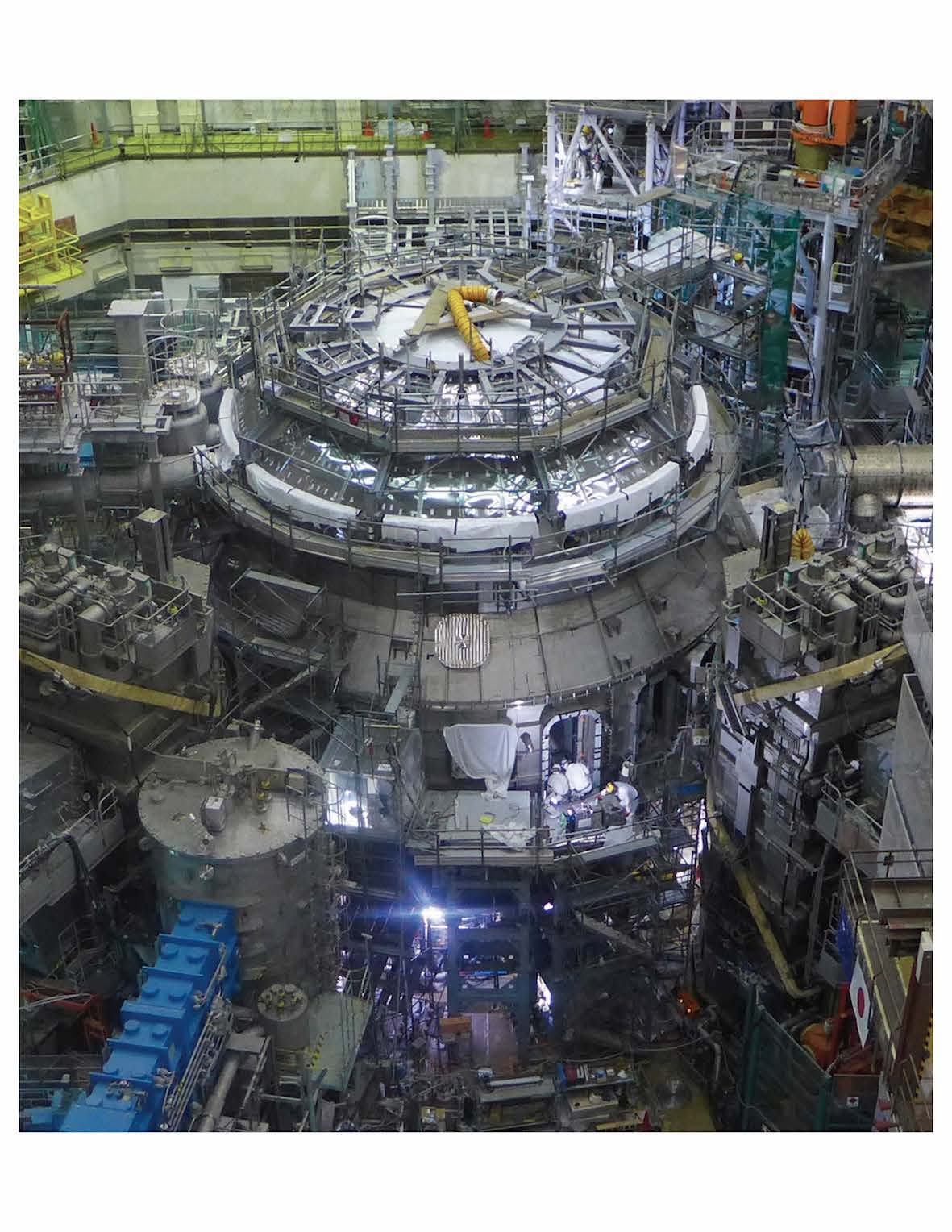 JT-60SA Tokamak covered by Cryostat Vessel Body (Mar. 2020)